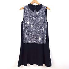 Marc by Marc Jacobs Women's Small Black Silk Twilight Print Dress Retail $458