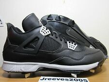 buy popular 4220e 7a59a Jordan Retro 4 Metal Baseball Cleats Sz 15 100% Authentic IV Black 807709  010