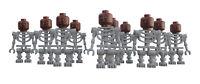 Lego 10x graues Skelett  Werwolf Kopf white skeleton Werewolf head Minifigur
