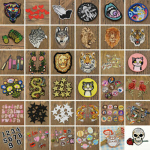 Embroidery Iron Sew On Patches Badge Fabric Cloth Applique Sticker DIY Craft