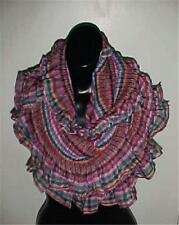 Multi Colored Infinity Oversized Ruffled/Pleated Scarf #120...NEW IN PACKAGE