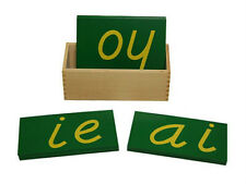 New Montessori D'Nelian Style Double Sandpaper Letters
