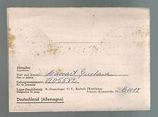 1943 Bocholt Germany Stalag 6F POW Prisoner of War Letter Cover to Belgium