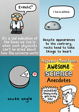 Genki Gear Geeky Science Anecdotes Quotes Angles Funny Cartoon Four Card Set