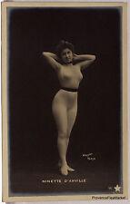 CPA  POSTCARD PHOTO FEMME NU ARTISTIQUE ACADEMIQUE 1900   Lae814