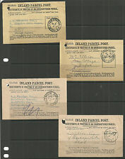 4 X Interior Parcel Post recibos Norwood Strand Londres Anerley Nr Station 1914/15