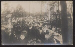 RP Postcard SPRINGFIELD Massachusetts/MA  U.C.T. Council Town Clambake view 1907