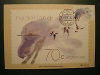 "Niederlande 1982:MK maximum card ""Wattenmeer:Nonnengänse"",MN 1210"