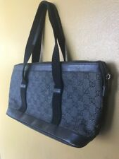 GUCCI Bag GG Canvas line Black Authentic GG Logo As Is