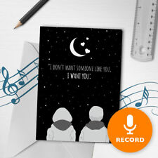 120s Happy Valentines Day Card Recordable Romantic Musical Greeting Card 00020