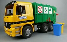 Bruder MB Actros Mercedes Benz Garbage Recycling Truck 4143 Furth Germany Cans