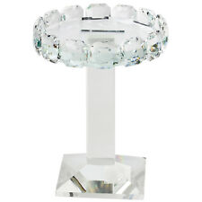 19cm Crystal Clear Glass Pillar Candle Holder Candlestick Wedding Table Decor