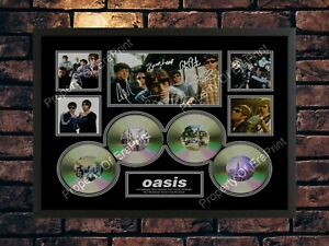 OASIS LIAM NOEL GALLAGHER LIMITED EDITION SIGNED MEMORABILIA AUTOGRAPH A4 PRINT