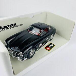 Burago Diecast 1/18 Mercedes Benz 300SL Mille Miglia 1954  3015 Model Car BLACK