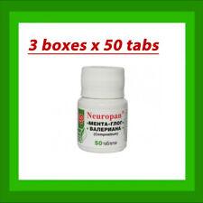 3 x Neuropan 50 Tabs - Valerian Root Hawthorn Mint Stress Anxiety Relief Calming