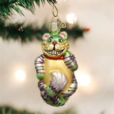 *Cheshire Cat* Alice Wonderland [12052] Old World Christmas Glass Ornament - NEW