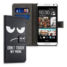 kwmobile Schutz Hülle für HTC Desire 610 Don't touch my Phone Kunstleder Tasche