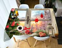 3D Stern Rot Grün M28 Christmas Tischdecke Tischdecke Tuch Geburtstagsfeier Ange