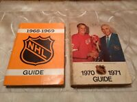 NHL official media guides lot of 2 1968-1969 & 1970-1971 Gordie Howe