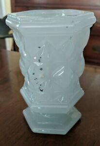 Antique Sandwich Star Opal Spooner Spill Vase Boston Sandwich 19th Century
