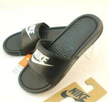 New NIKE Benassi JDI Size 10 Black / White Men's Slide Sandals