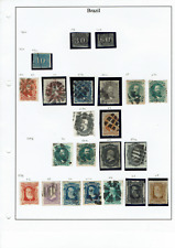 Brazil 75 stamps 1866-1964 Cat Value £575