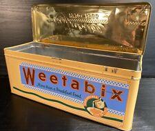Retro WEETABIX Jubilee Storage Tin 1936-1986 Embossed Food Advertising Box