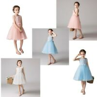 Flower Kids Girls Princess Tutu Dress Floral Summer Bridesmaid Birthday Party