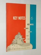 Key Notes Music Magazine. Musical Life In The Netherlands Issue 6 1977.