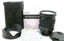 Sigma 24-105mm f/4 DG OS HSM ART lens for Nikon F mount, boxed MINT #37571