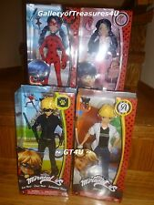 Miraculous Ladybug Cat Noir Adrien Marinette 4 Fashion Dolls 10.5 inches - 12""