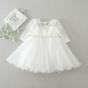 Floral Beaded Lace Christening Dress Infant Baby Embroidery Party Baptism Gown