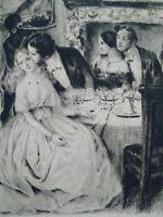Rare curiosa Paul-Emile Bécat gravure parfait état Belle époque estampe