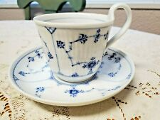 Royal Copenhagen Fluted Plain High Handle Cup and Saucer