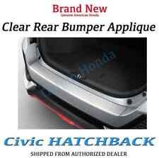 Genuine OEM Honda Civic Hatchback Clear Rear Bumper Applique 2017 5dr Hatch Back