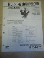 Sony Service Manual~MDR-IF420RK/IF520RK Cordless Headphones~Original~Repair