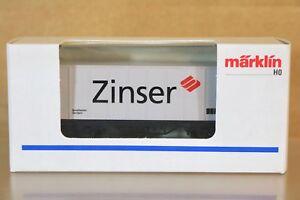 MARKLIN MÄRKLIN C115 SONDERMODELL DB ZINSER CONTAINER WAGON MINT BOXED nq