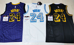 "Los Angeles Lakers #24 ""Mamba"" Autographed 3 Jersey with COA"