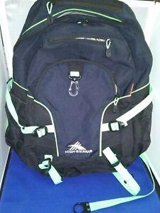 High Sierra Loop Backpack, Midnight Blue & Black