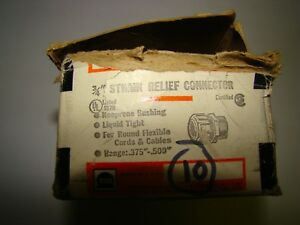 """Thomas & Betts 2532 Strain Relief Connector, 3/4"""", Box of 10, New"""