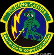 USAF 53d AIR TRAFFIC CONTROL SQ - FIGHTING GATORS - ORIGINAL AIR FORCE PATCH