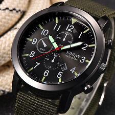 Fashion Men's Military Stainless Steel Date Quartz Sport Wrist Watch Waterproof