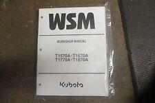 Kubota T1570 A T1670 A T1770 A T1870 A tractor & mower service & repair manual