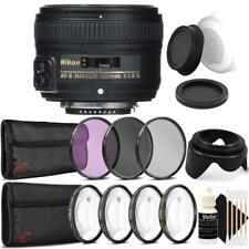Nikon AF-S NIKKOR 50mm f/1.8G Lens and Accessory Bundle For Nikon DSLR Cameras