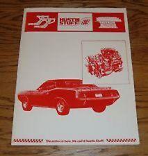 1971 DODGE PLYMOUTH PERFORMANCE PARTS MODIFICATIONS HUSTLE STUFF CATALOG MANUAL
