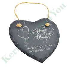 Personalised Engraved Slate Plaque BIRTHDAY GIFT 18th 21st 30th 40th 50th 60th