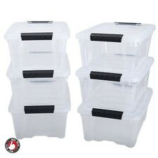 Plastic Storage Bins With Lids Stackable Containers For Toys Garage Organizer 6
