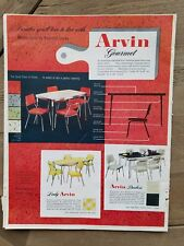 1952 lady Arvin duchess retro kitchen table chairs Furniture vintage ad