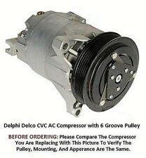 Chevrolet Impala Monte Carlo 3.5L 2006 - 2011 OEM Delco CVC  AC Compressor