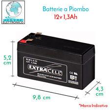 BATTERIA AL PIOMBO RICARICABILE 12V 1,3AH CON FASTON 4,8MM COME SKB 38640125